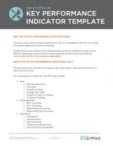 Key Performance Indicators Templates by Small Business Key Performance Indicator Template