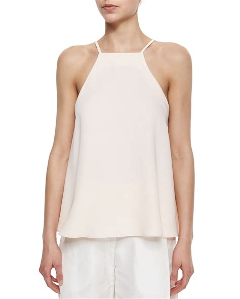 Maxmara Pt 01 Square Pink lyst adam lippes square neck flutter camisole in pink