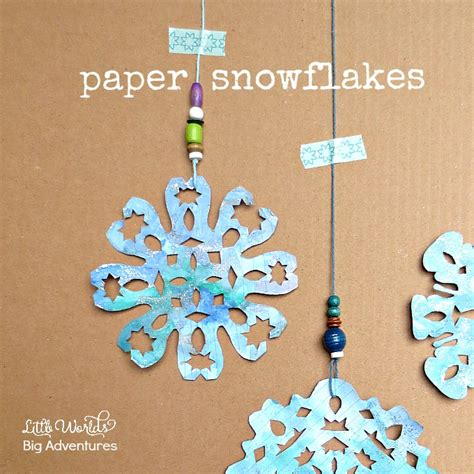 How To Make Snowflakes With Paper And Scissors - paper snowflakes a kid made winter craft