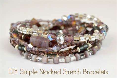 how to make stretch rings jewelry stretch bracelet tutorial how to make a simple stacked