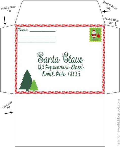santa envelope template our letters to santa includes free letter printable