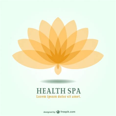 lotus spa spa resort lotus emblem logo vector free