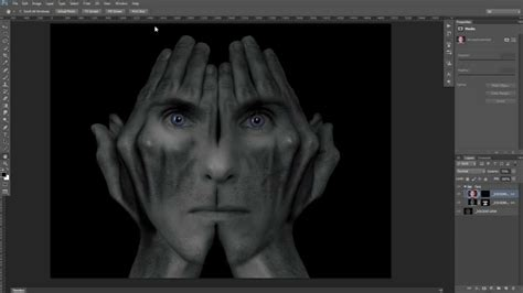 photoshop cs5 tutorial cracked face photo manipulation surreal studio photoshop image creation face in hands