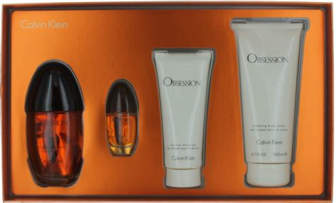 obsession by calvin klein for set edp 3 4oz mini