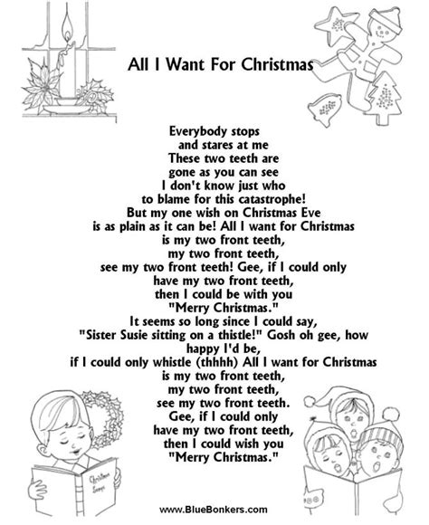 bluebonkers christmas lyrics 1000 images about on carol sheet and lyrics