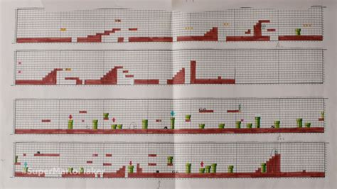 grid pattern concept the original super mario game was designed on graph paper