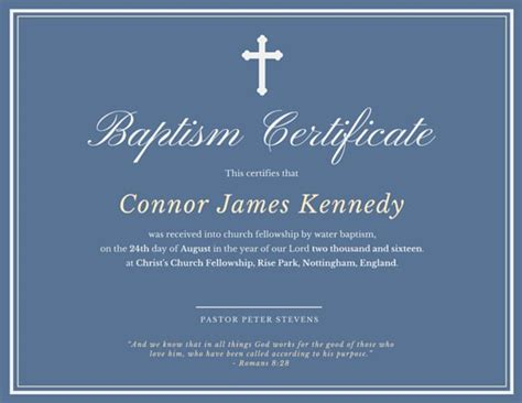 water baptism certificate template baptismal certificate templates by canva
