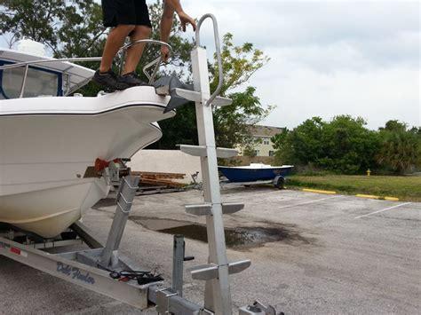 boat trailer mounted ladder radar mount trailer ladder the hull truth boating