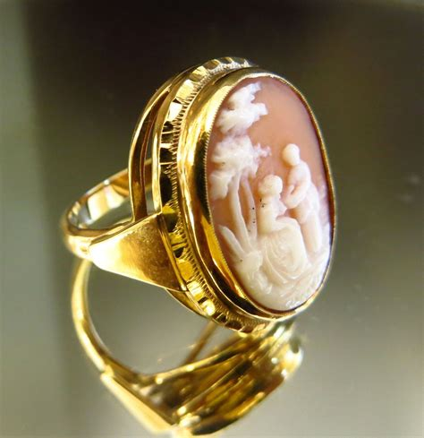 vintage s 14k scenic cameo ring from the vault on