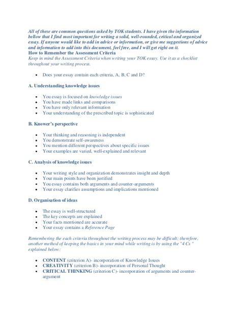 Ib Tok Essay Prescribed Titles 2013 Ib Tok Presentation Ideas