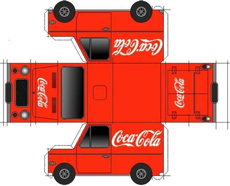coca cola van paper model by papermau download now