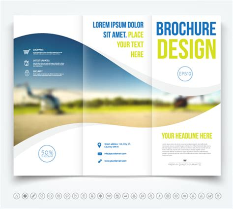 commonly business brochure cover design vector 01 free brochure tri fold cover template vectors design 06