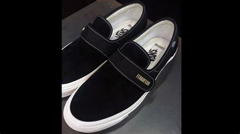 Sepatu Vans Fear Of God fear of god x vans slip on style 147 in black teased by