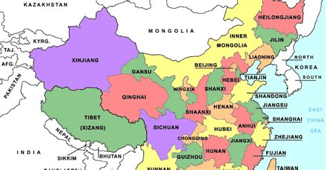 political map of china ezilon maps online maps china political map