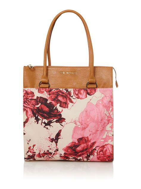 Ted Baker Canvas Printed Tote Bag by Lyst Ted Baker Mayan Floral Canvas Tote In Brown