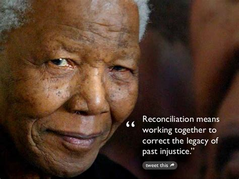 show me the biography of nelson mandela reconciliation means working together to