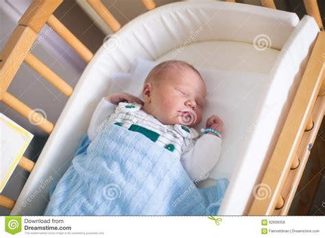 Newborn Baby In Crib by Newborn Baby Boy In Hosptal Cot Stock Photo Image 62608358