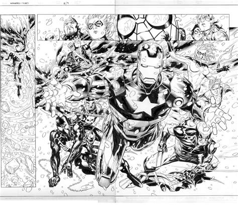 dark avengers coloring pages new avengers fcbd pages 8 9 by markmorales on deviantart