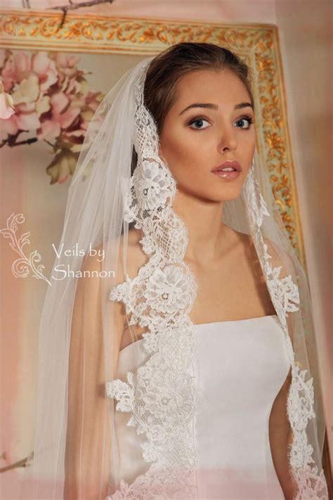 Lace Wedding Veil wedding veil lace bridal veil cathedral veil style v3a