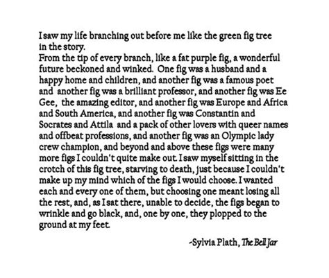 the bell jar themes quotes i considered a fig tattoo for awhile because of this quote