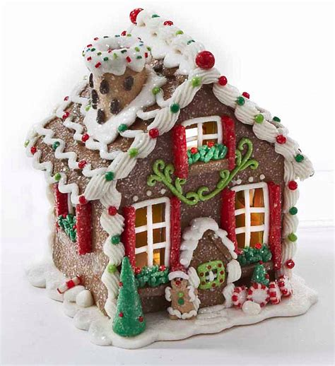 lighted decoration decoration led lighted gingerbread house