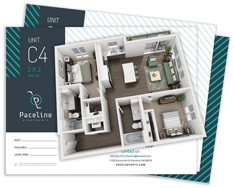 Appartement Plan 3d by Best 3d Floor Plans For Apartments Gt Tours Gt We