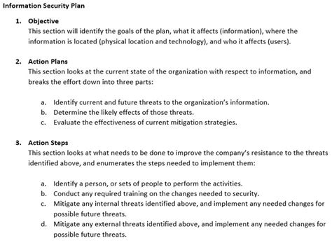 Information Security Plan Template Image Collections Template Design Ideas Information Security Program Template