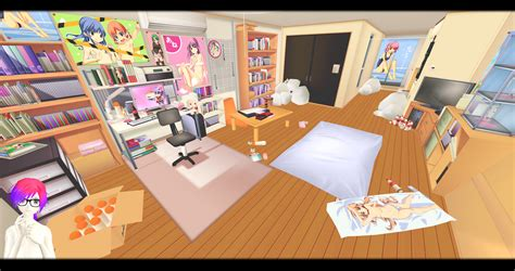 otaku bedroom mmd otaku rooms dl by o dsv o on deviantart