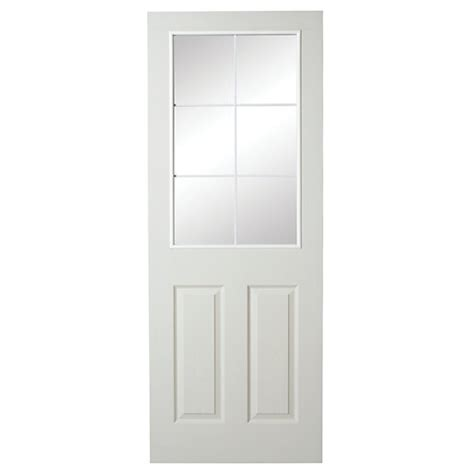 Wickes 6 Light Internal Moulded Door White Glazed Primed White Moulded Interior Doors