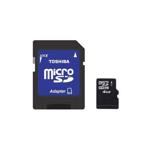 Memory Card 4gb Toshiba toshiba 4gb micro sdhc w sd adapter mp3 computor backup nib