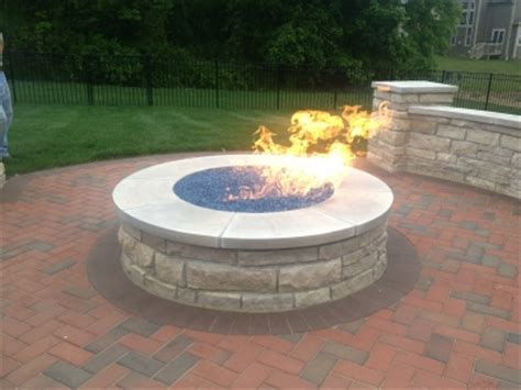 propane pit glass custom pit conversion to fireglass exsisting