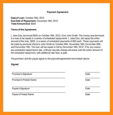 3 payment agreement contract actor resumed