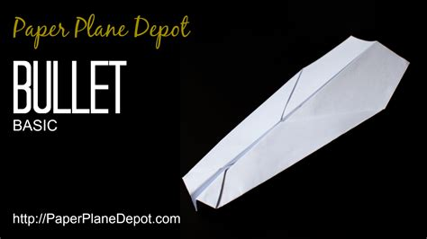 How To Make A Paper Plane That Shoots - bullet plane paper plane depot