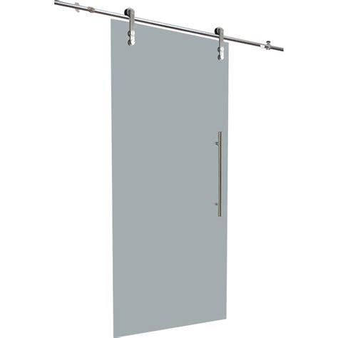 glass sliding door with rail 33 quot x 84 quot rona