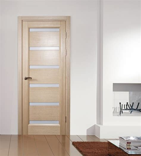 Tokyo White Oak Modern Interior Door With Frosted Glass Modern Interior Doors With Glass