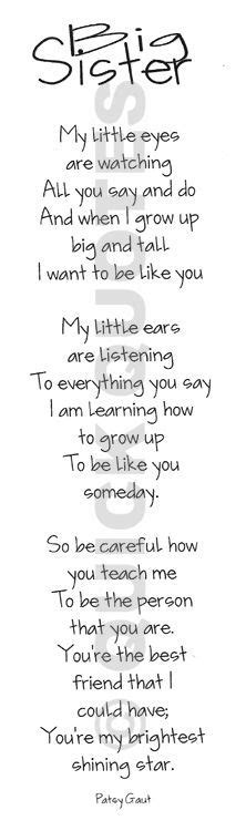 1000 images about sister on pinterest big brothers sister poems