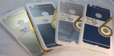 Tempered Glass Iphone 6plus Front An Back tempered glass mirror colored back front glass protector
