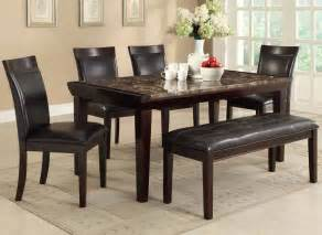 Faux Marble Dining Table Set Chicago Quality Furniture Stores Dining Set With Bench