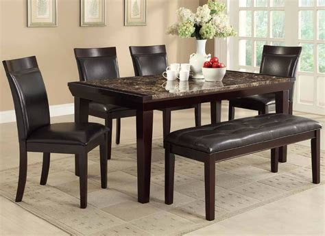 marble dining table with bench chicago quality furniture stores dining set with bench