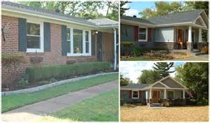 before and after ranch style home into craftsman style