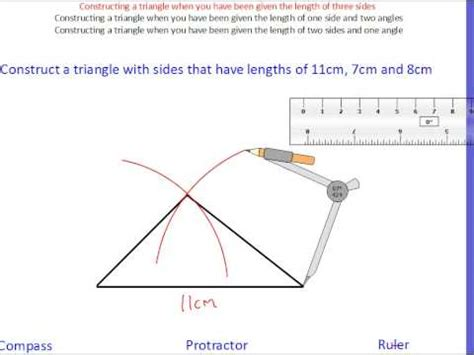 construct a triangle constructing triangles