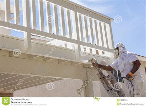 spray painter house painter spray painting royalty free stock photo