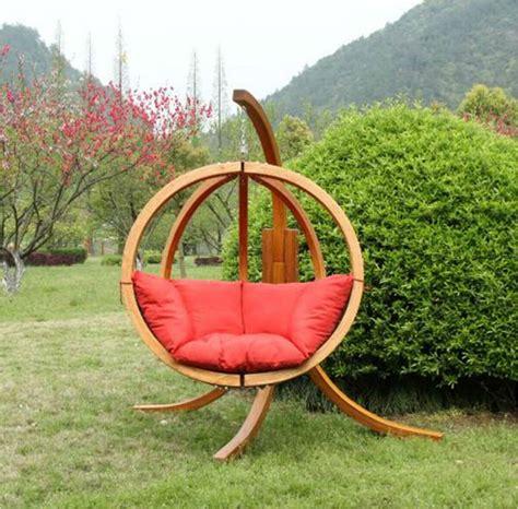 wooden garden swing hammock globo spruce wooden swing seat and stand wooden swing