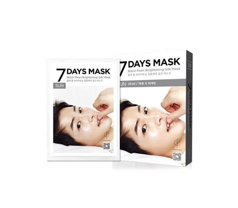 Forencos 7 Days Mask forencos 7 days mask sunday black pearl brightening silk mask 10 sheets 0 84fl oz 25ml
