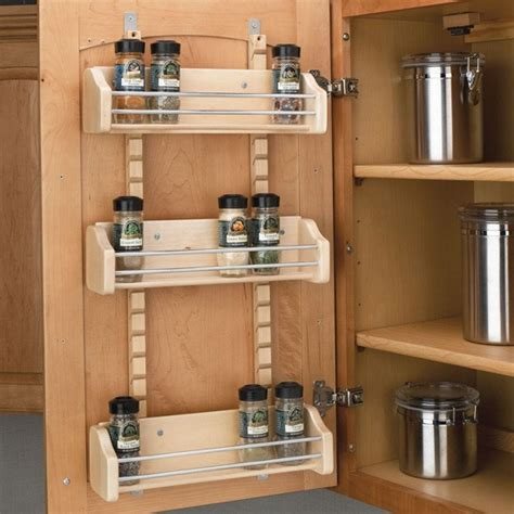 Cabinet Mount Spice Rack 18 quot door storage adjustable spice rack