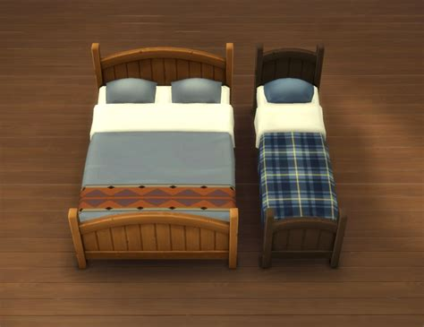 Box Frame For Bed Mod The Sims Rustic Bed Frames