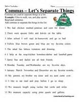 6th grade punctuation practice worksheets antonym