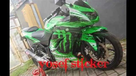 Monster Energy Cutting Sticker by Cutting Sticker Ninja 250 Hijau Monster Energy Created By