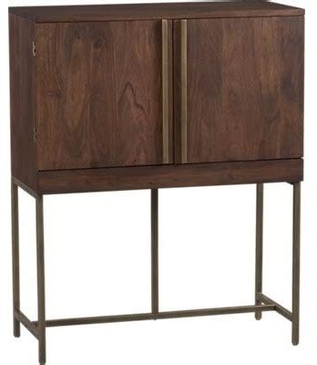 Contemporary Bar Cabinet Bourne Bar Cabinet Contemporary Wine And Bar Cabinets By Crate Barrel