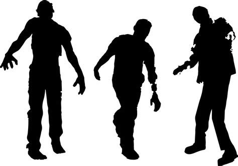 free silhouette images free zombie silhouette vector download free vector art